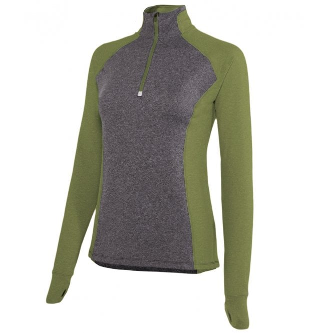 Noble Athena Tech Top, Olive/Grey (XSMALL Only)