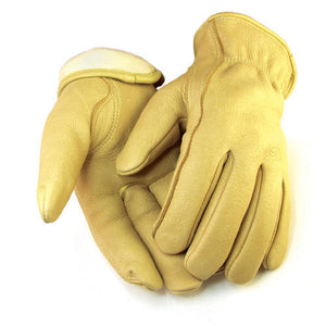 Hand Armor Unisex Elkskin Lined Gloves, Tan