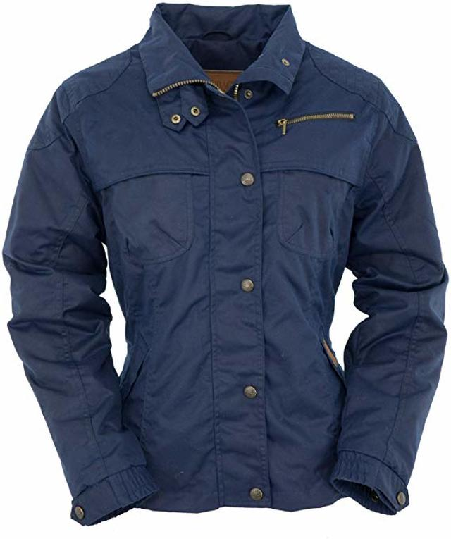 Outback Trading Sheila's Delight Navy Oilskin Jacket (XSMALL)