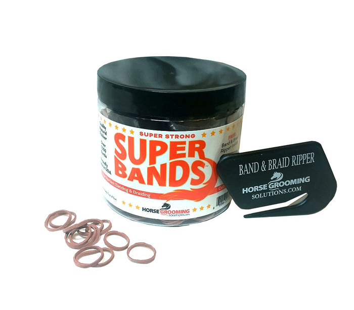 Healthy Haircare SuperBands Braiding Bands with FREE ripper, Red/Sorrel