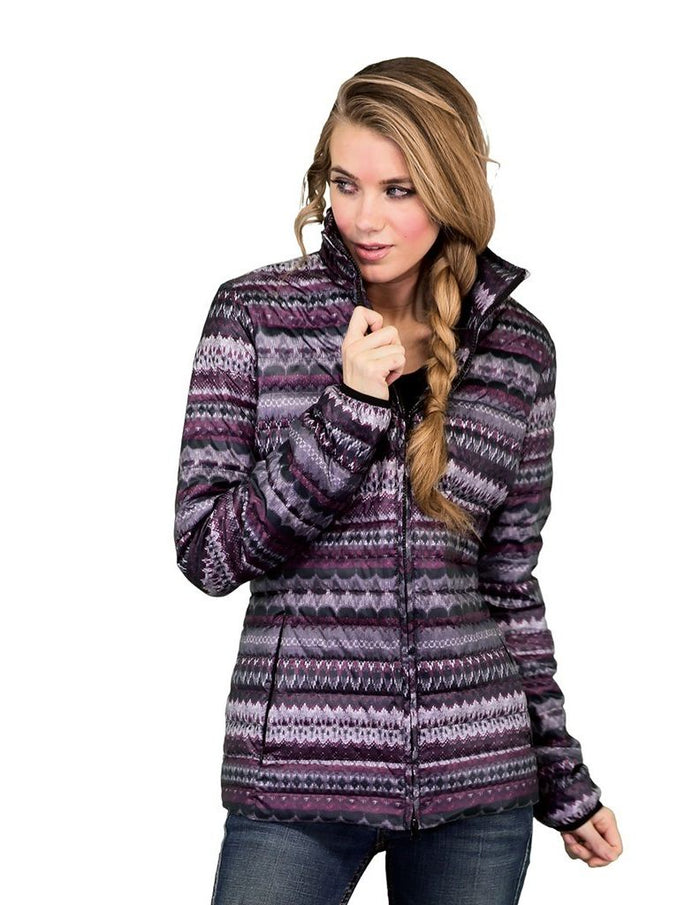 Outback Trading Willow Puffer Coat, Purple/Grey (SMALL Only)