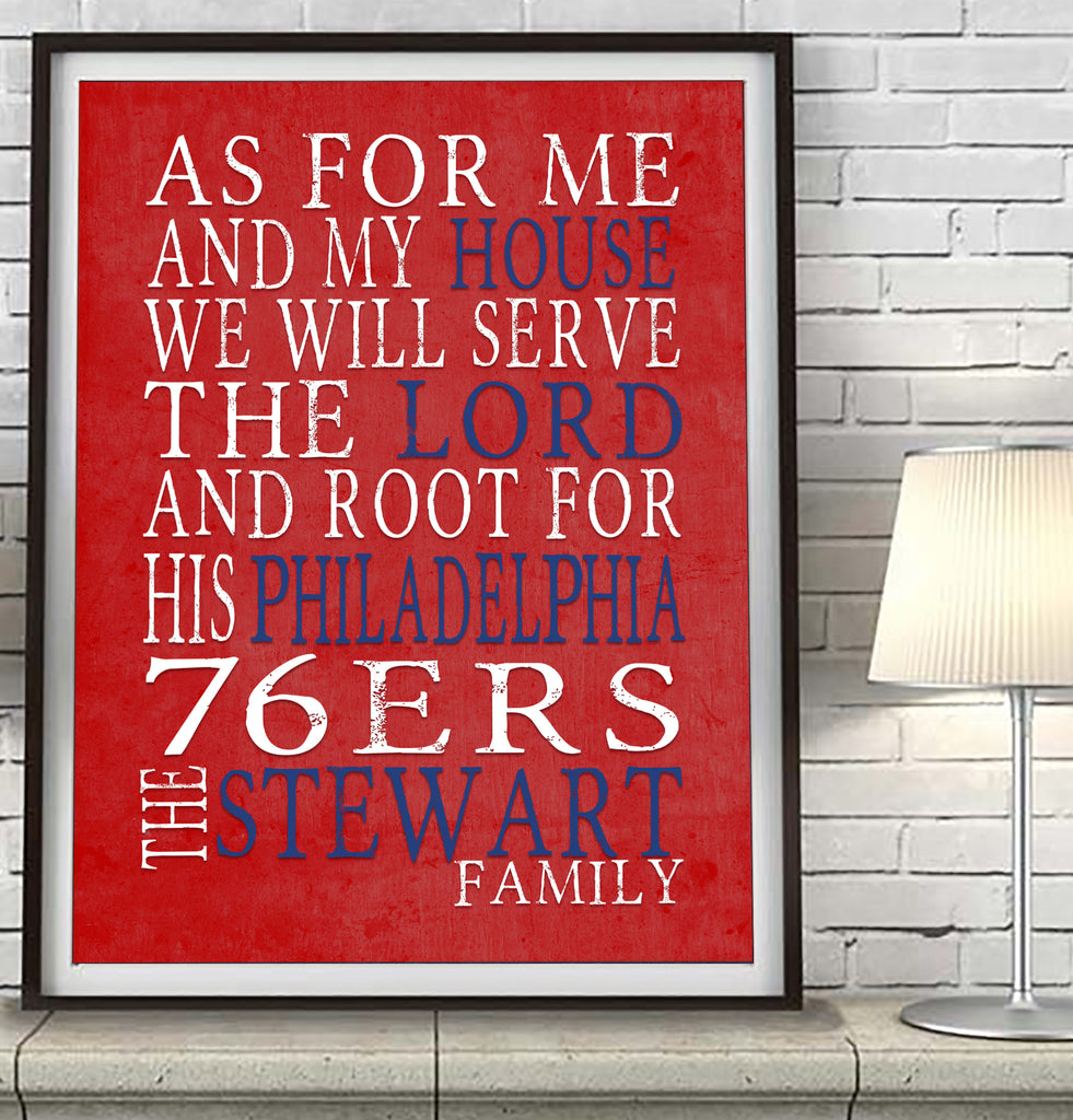 "Philadelphia 76ers Personalized ""As for Me"" Art Print"