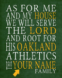 "Oakland Athletics baseball Personalized Art Print- ""As for Me"" Parody-Unframed Print"