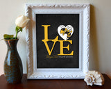 "Georgia Tech Yellow Jackets ""Love"" ART PRINT"
