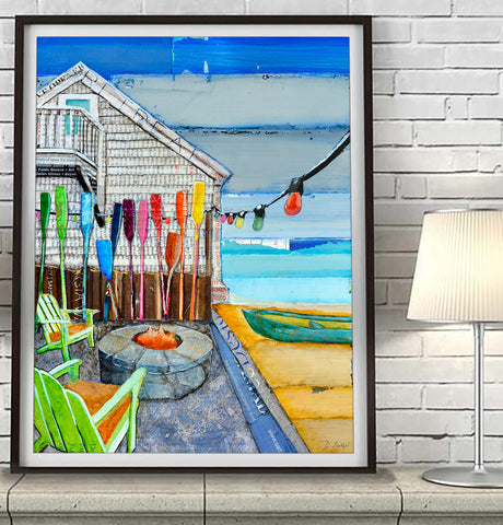 Ocean View - Mixed Media Painting Reproduction  - Danny Phillips Fine Art Print