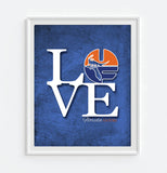 "Florida Gators UF ""Love"" Art Print Poster Gift"
