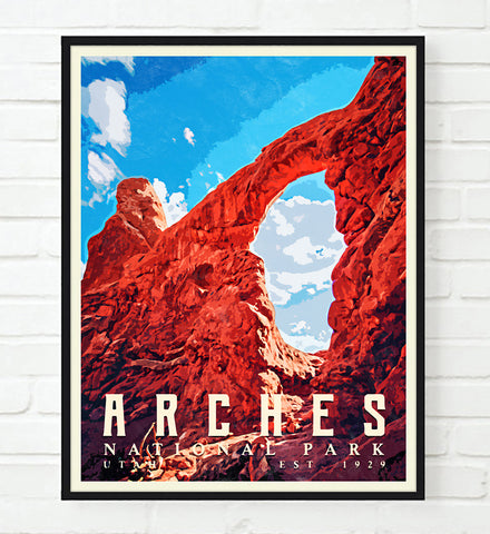 Arches National Park Utah Art Print, Adventure Wall Art Decor Poster