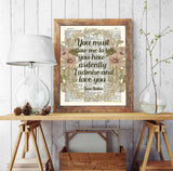 You Must Allow Me to Tell You How Ardently I Admire and Love You - Jane Austen Quote - Dictionary Art Print