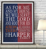"2 Teams Customized Art Print- ""As for Me"" Parody, House Divided"