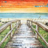 The Approach - Beach Path - Mixed Media Collage - Danny Phillips Fine Art Print