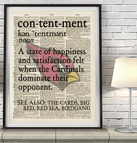 "Arizona Cardinals ""Contentment"" Art Print - Christmas poster gift"