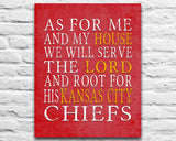 "Kansas City Chiefs Personalized ""As for Me"" Art Print"