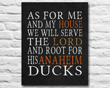 "Anaheim Ducks hockey Personalized Art Print- ""As for Me"" Parody- Unframed"