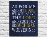 "Michigan Wolverines personalized ""As for Me"" Art Print"
