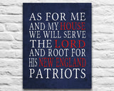 "New England Patriots Boston Personalized ""As for Me"" Art Print"