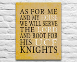 "UCF Central Florida Knights inspired Personalized Customized Art Print- ""As for Me"" Parody- Unframed Print"