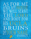 "UCLA Bruins Personalized ""As for Me"" Art Print"