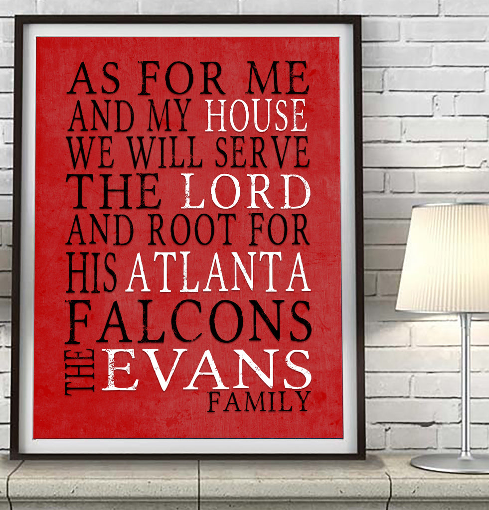 "Atlanta Falcons Personalized ""As for Me"" Art Print"