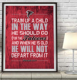 "Atlanta Falcons ""Train Up A Child"" Art Print Poster Gift"