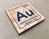 Auburn Tigers- Periodic Map art print on Wooden Block