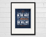 "Auburn Tigers inspired ""Train Up A Child"" Art Print Poster Gift"