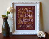 "Arizona State Sun Devils Personalized ""As for Me"" Art Print"