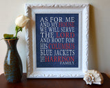 "Columbus Blue Jackets hockey inspired Personalized Customized Art Print- ""As for Me"" Parody- Unframed Print"