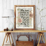 You have Bewitched Me, Body and Soul, and I Love, I Love, I love You - Jane Austen Quote - Dictionary Art Print