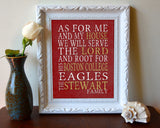 "Boston College Eagles Personalized ""As for Me"" Art Print"