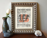 "Cincinnati Bengals inspired ""Contentment"" ART PRINT - Christmas poster gift"