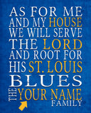 "St. Louis Blues hockey inspired Personalized Customized Art Print- ""As for Me"" Parody- Unframed Print"