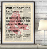 "Boston Red Sox inspired ""Contentment"" ART PRINT - Christmas poster gift"