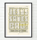 Jesus Saves Bro!- Romans 10:9 -Vintage Bible Highlighted Verse Scripture Page- Christian Wall ART PRINT