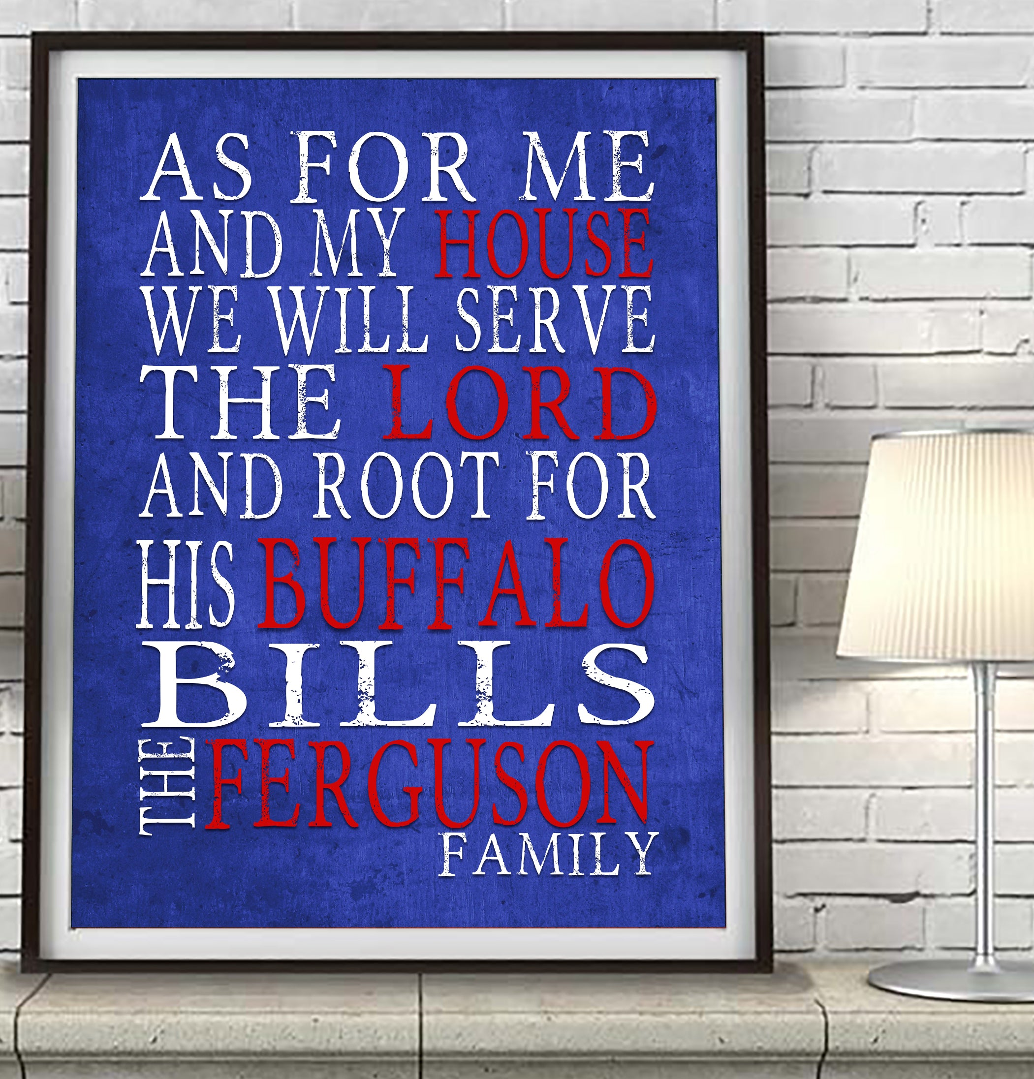 Buffalo Bills Personalized As For Me Art Print Parody
