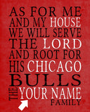 "Chicago Bulls basketball inspired Personalized Customized Art Print- ""As for Me"" Parody- Unframed Print"
