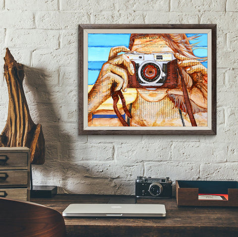 Camera Ready - Danny Phillips Fine Art Print, UNFRAMED, All Sizes