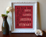 "Arizona Coyotes hockey Personalized Art Print- ""As for Me"" Parody- Unframed Print"