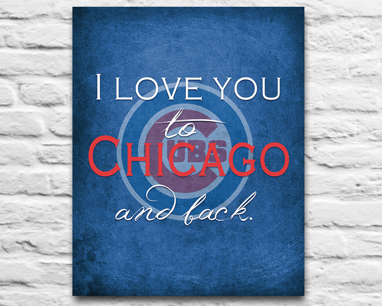 Chicago Cubs Personalized Quot I Love You To Chicago And Back