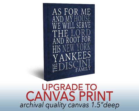 "Canvas UPGRADE Art Print on 1.5"" canvas- *Must Purchase with Print*"