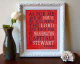 "Washington Capitals hockey inspired Personalized Customized Art Print- ""As for Me"" Parody- Unframed Print"