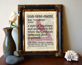 "Saint Louis Cardinals inspired ""Contentment"" ART PRINT Using Old Dictionary Pages, Unframed"