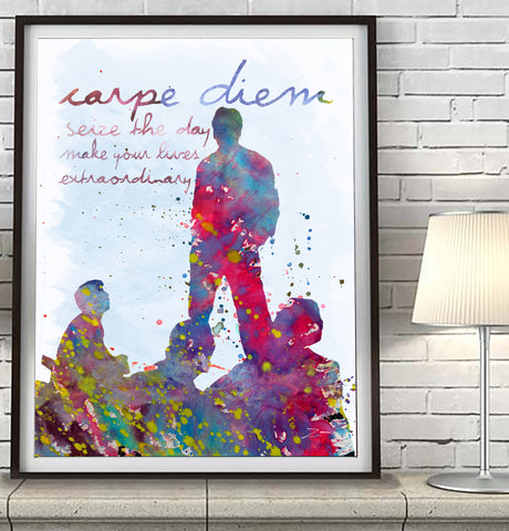 Dead Poets Society- Carpe Diem - Seize the Day Art Print Poster Gift