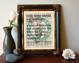 "Boston Celtics inspired ""Contentment"" ART PRINT Using Old Dictionary Pages, Unframed"