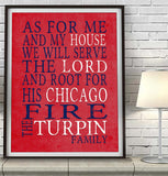 "Chicago Blackhawks hockey inspired Personalized Customized Art Print- ""As for Me"" Parody- Unframed Print"
