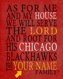 "Chicago Blackhawks personalized ""As for Me"" Art Print"