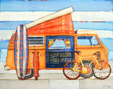 Choose Your Adventure- Vw Volkswagen Bike Surfboard Skateboard - Danny Phillips Fine Art Print, All Sizes
