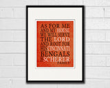 "Cincinnati Bengals football inspired Personalized Customized Art Print- ""As for Me"" Parody- Unframed Print"