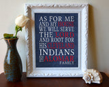 "Cleveland Indians baseball Personalized ""As for Me"" Art Print"