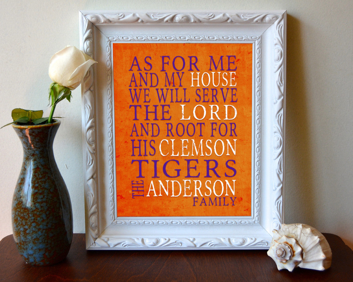 Clemson Tigers personalized \