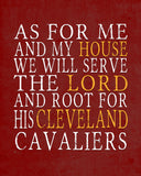 "Cleveland Cavaliers Personalized ""As for Me"" Art Print"